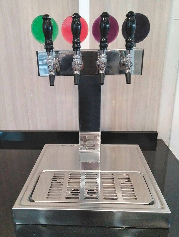 Project square dispensing tower for 4 products