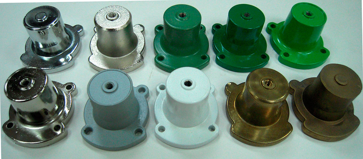 Reducing valve bell component color version as customer-gas-aplication requirements